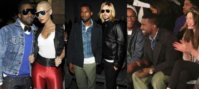 Kanye e seu novo affair, com Jared Leto e no desfile da Y-3